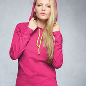887L Ladies' Lightweight Long Sleeve Hooded T-Shirt