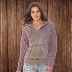8926 Ladies' Zen Fleece Raglan Sleeve Hooded Sweatshirt Thumbnail