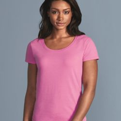 64550 Women's Deep Scoopneck T-Shirt Thumbnail